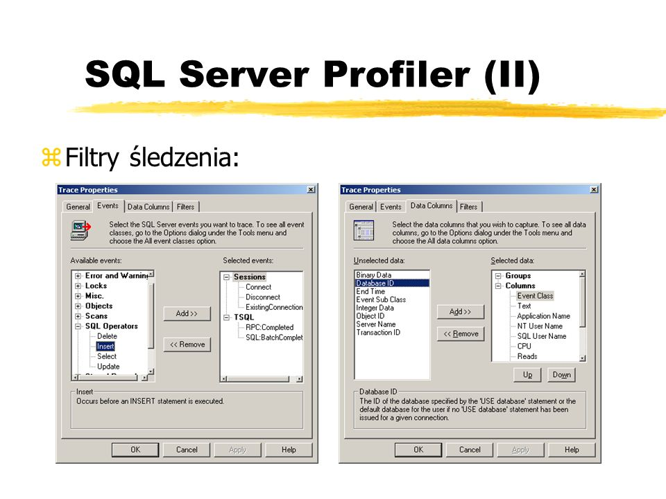 SQL Server Profiler (II)