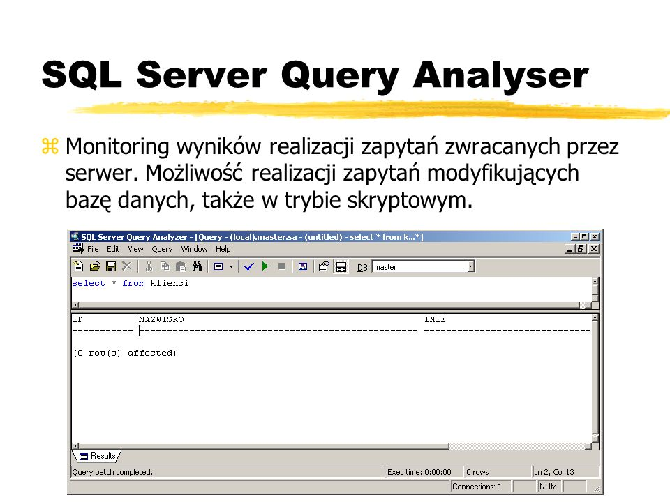 SQL Server Query Analyser