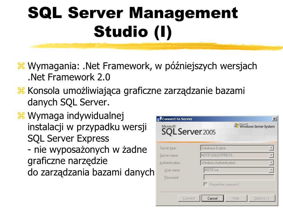 SQL Server Management Studio (I)
