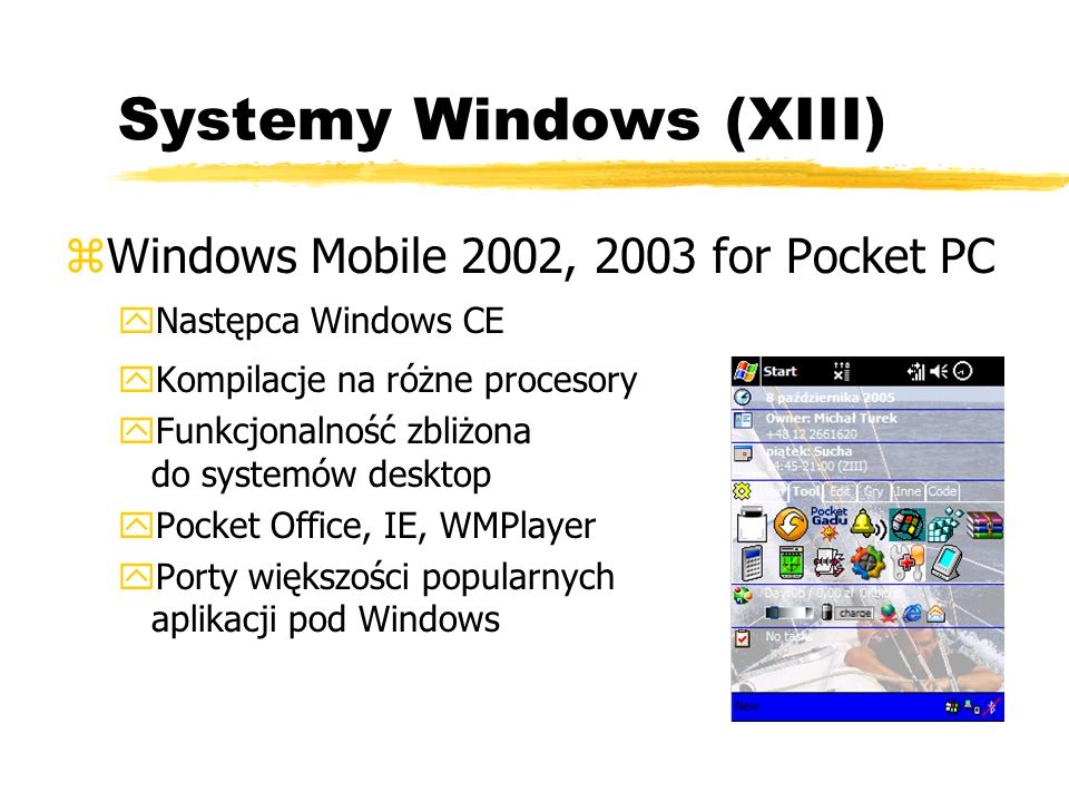 Systemy Windows (XIII)