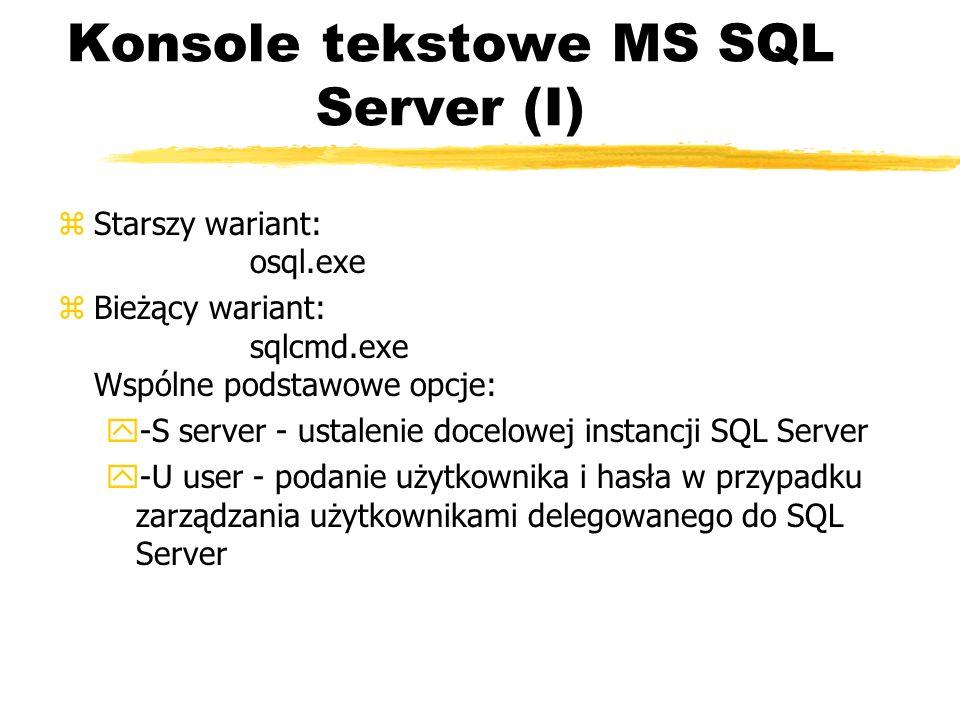 Konsole tekstowe MS SQL Server (I)
