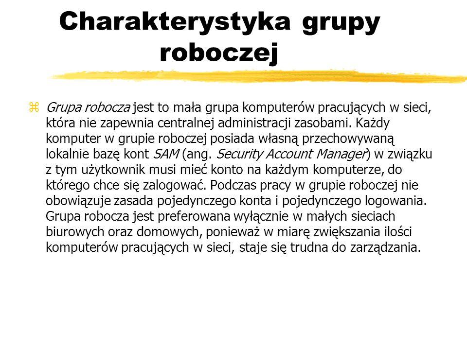 Charakterystyka grupy roboczej