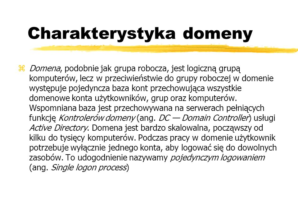 Charakterystyka domeny