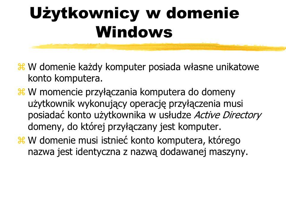 Użytkownicy w domenie Windows
