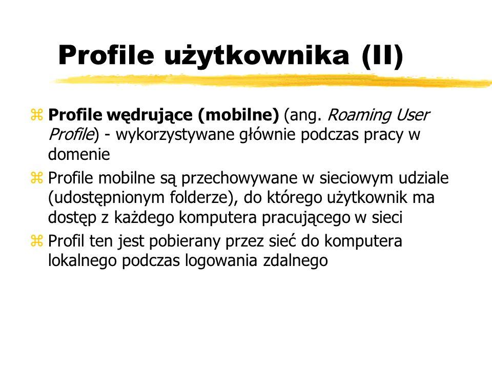 Profile użytkownika (II)