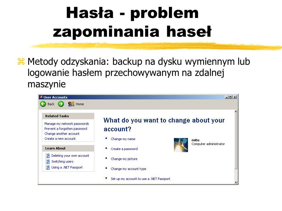 Hasła - problem zapominania haseł