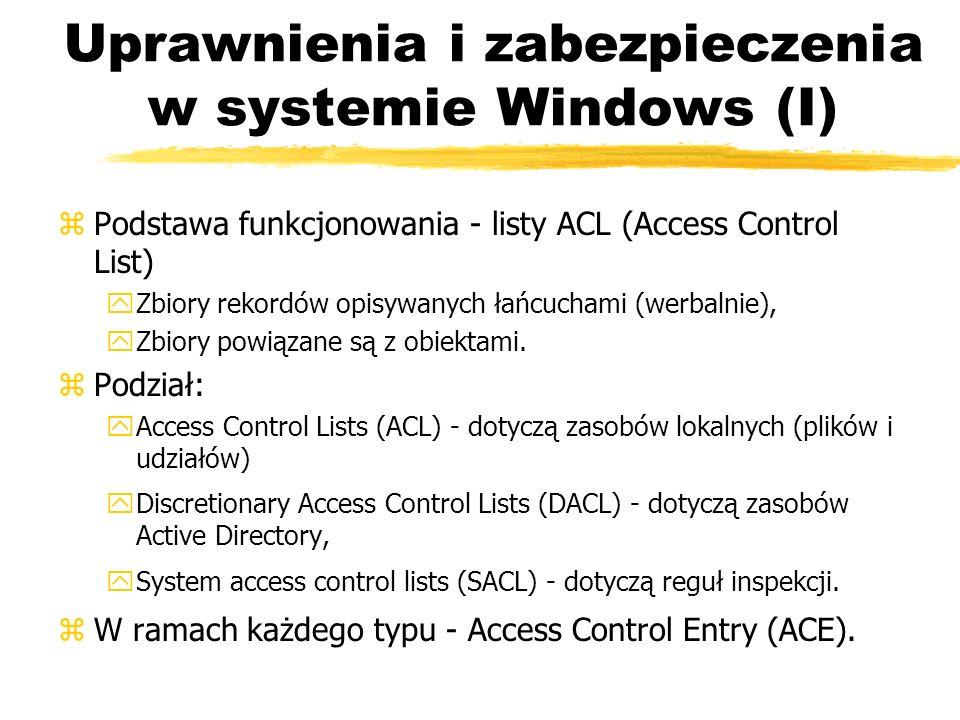 Uprawnienia i zabezpieczenia w systemie Windows (I)