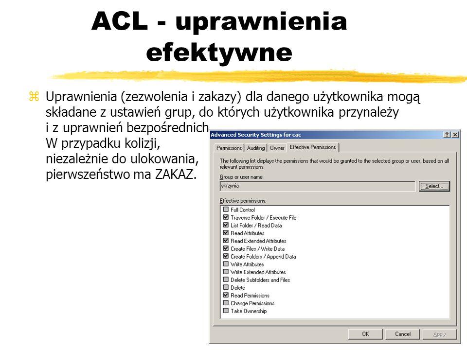 ACL - uprawnienia efektywne
