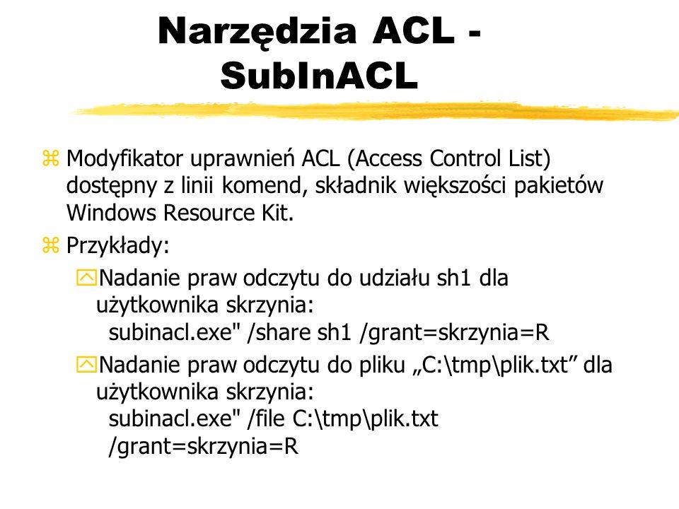 Narzędzia ACL - SubInACL