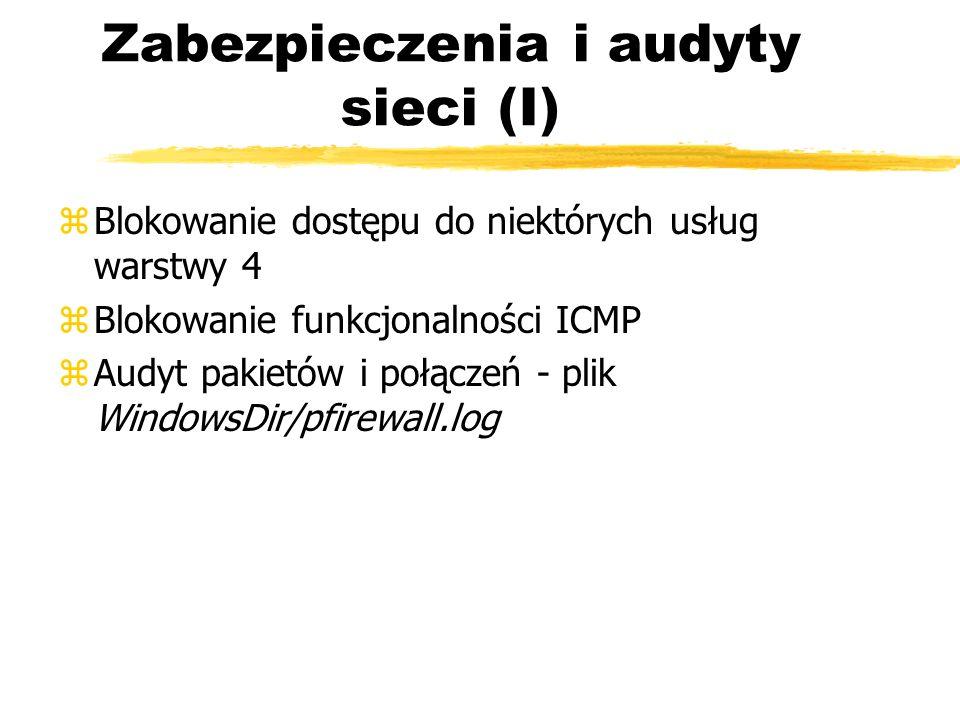 Zabezpieczenia i audyty sieci (I)