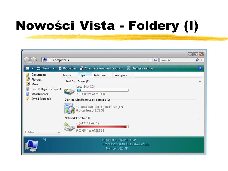 Nowości Vista - Foldery (I)