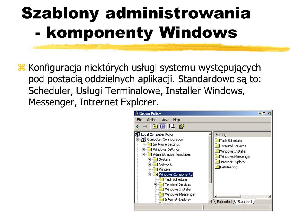 Szablony administrowania - komponenty Windows