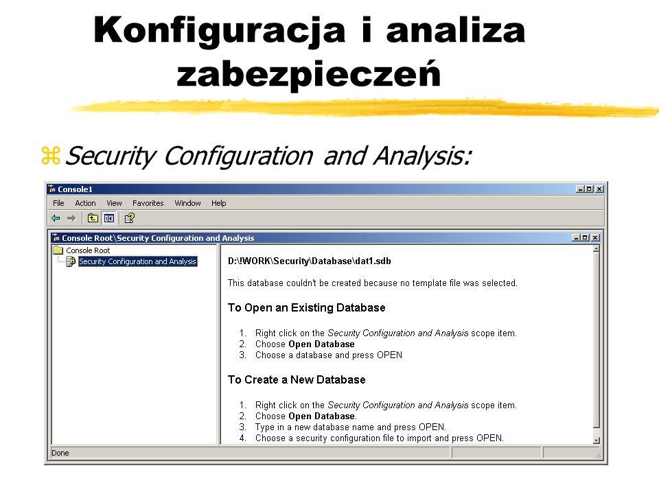 Konfiguracja i analiza zabezpieczeń