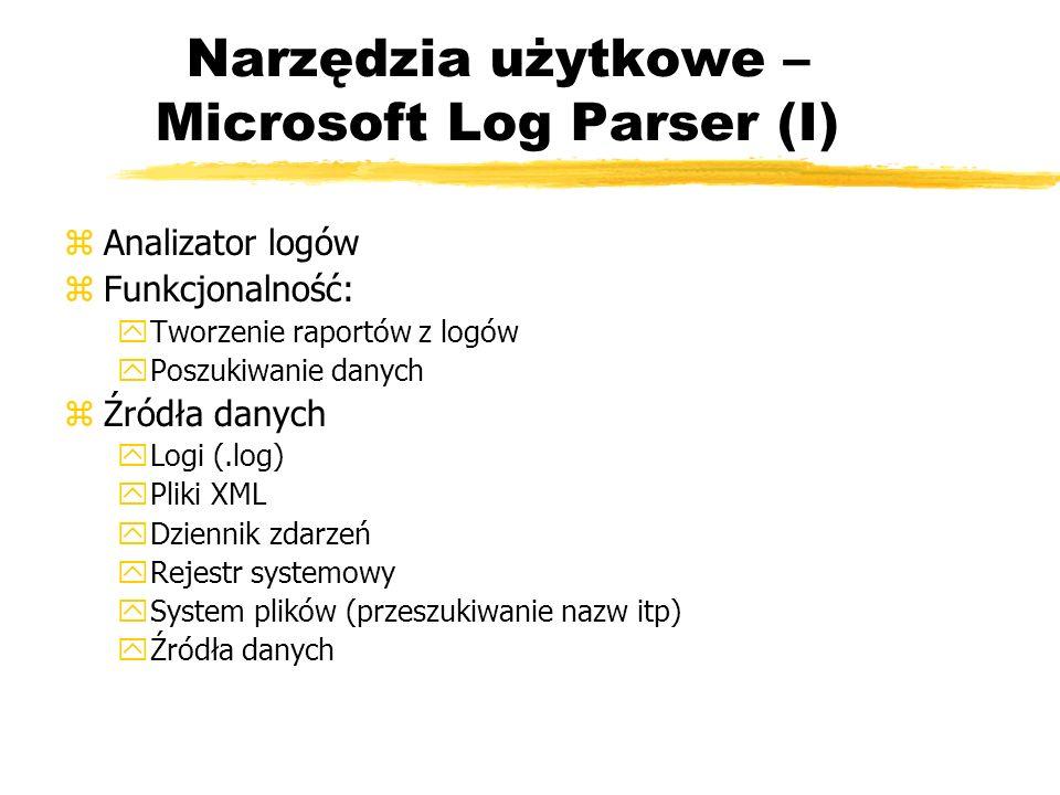 Narzędzia użytkowe – Microsoft Log Parser (I)