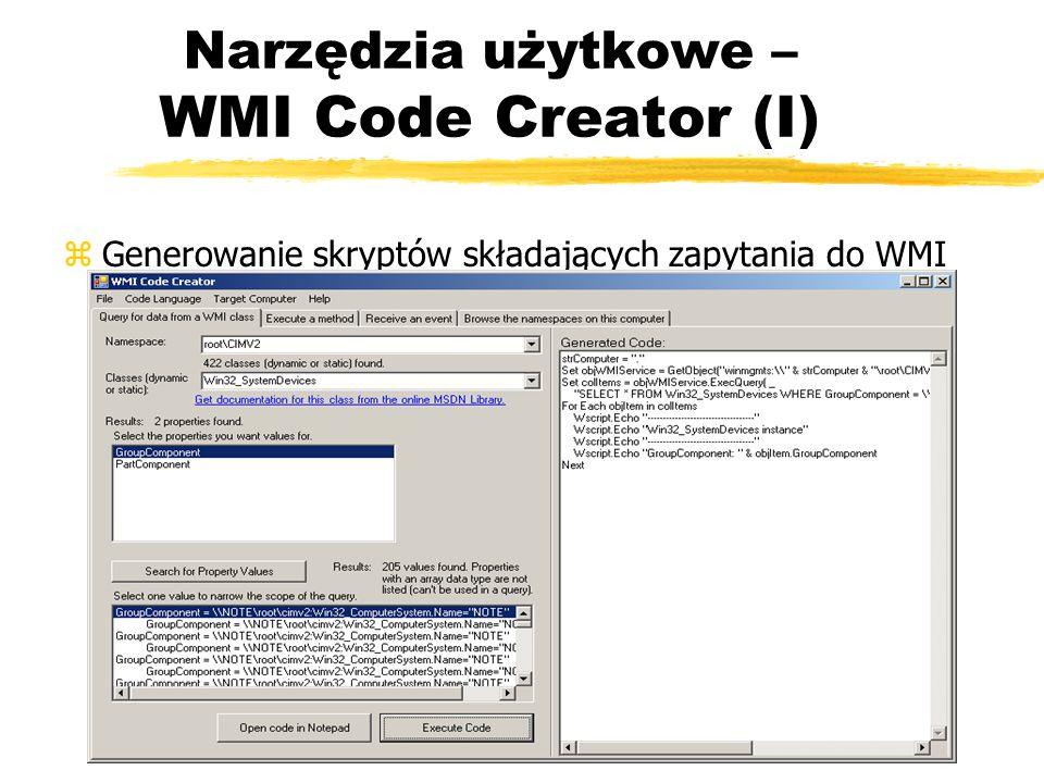 Narzędzia użytkowe – WMI Code Creator (I)