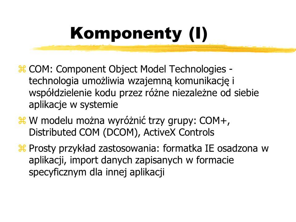 Komponenty (I)