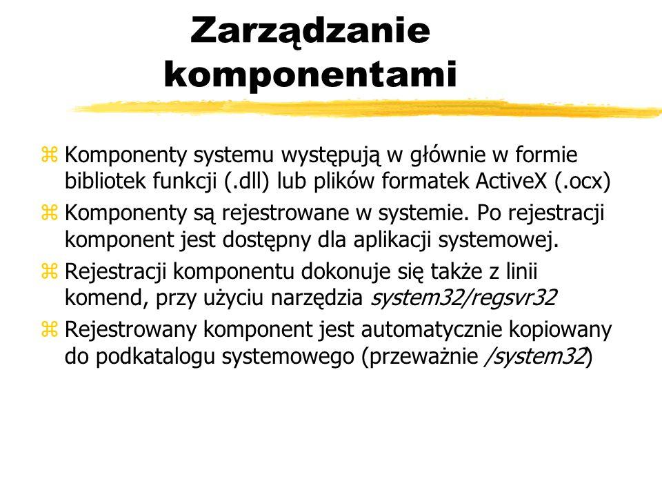 Zarządzanie komponentami
