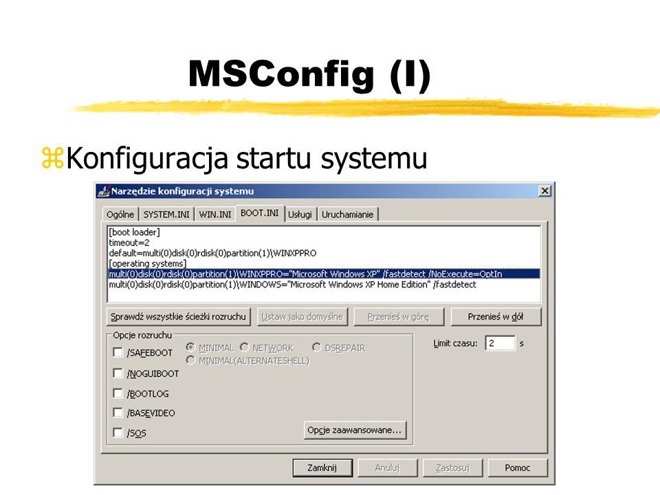 MSConfig (I) Konfiguracja startu systemu