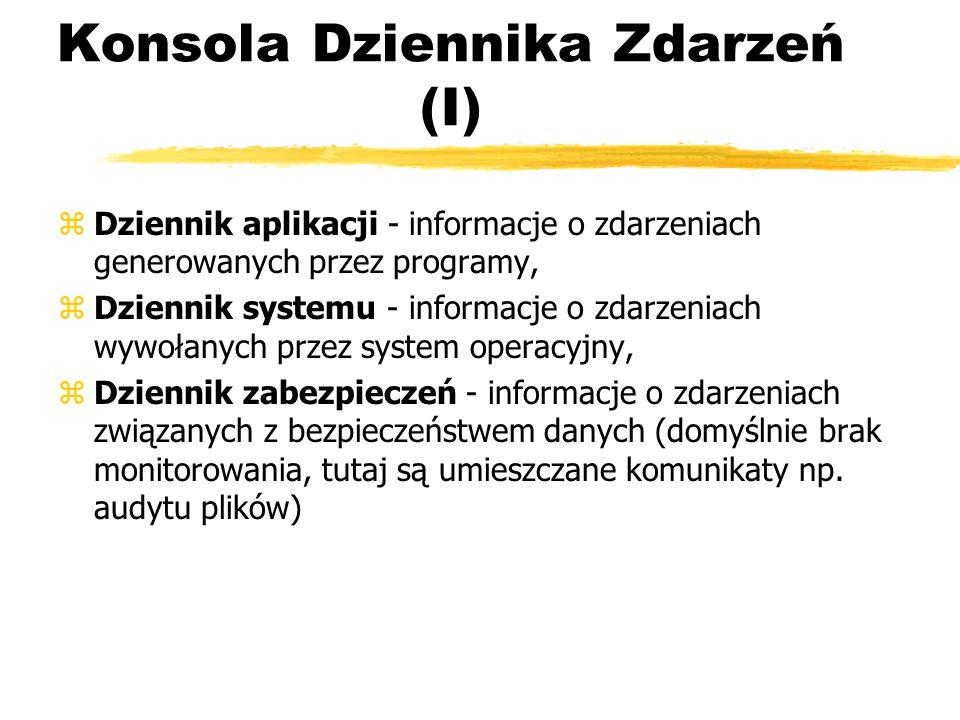 Konsola Dziennika Zdarzeń (I)