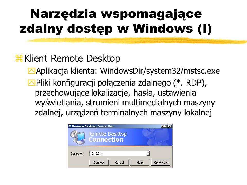 Narzędzia wspomagające zdalny dostęp w Windows (I)