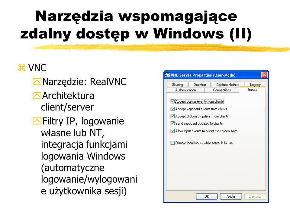 Narzędzia wspomagające zdalny dostęp w Windows (II)