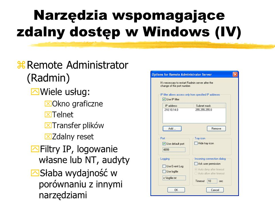 Narzędzia wspomagające zdalny dostęp w Windows (IV)