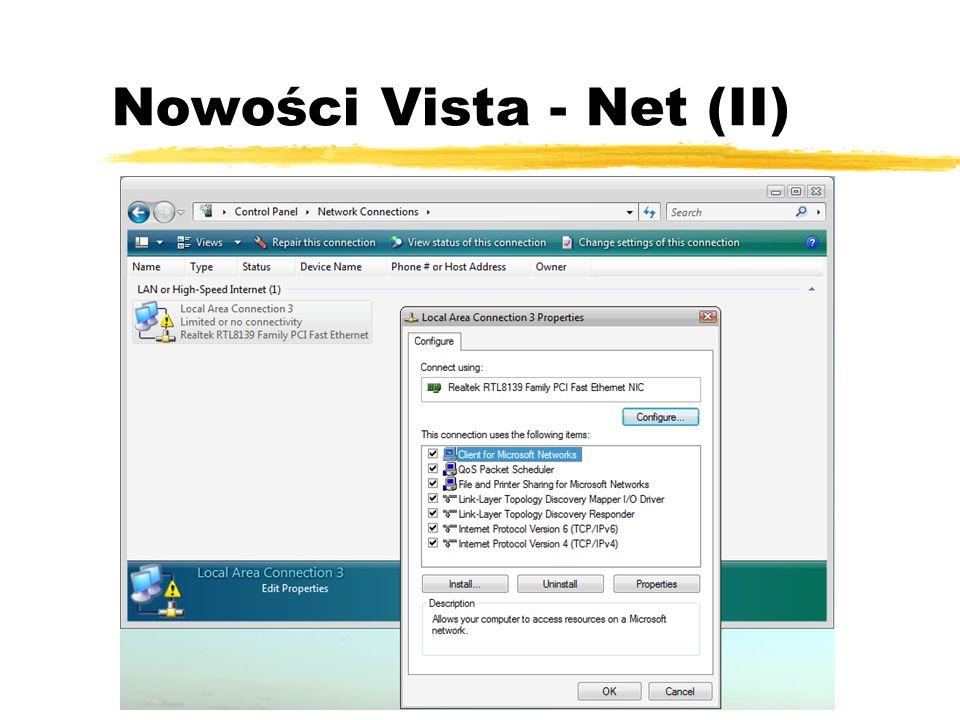 Nowości Vista - Net (II)