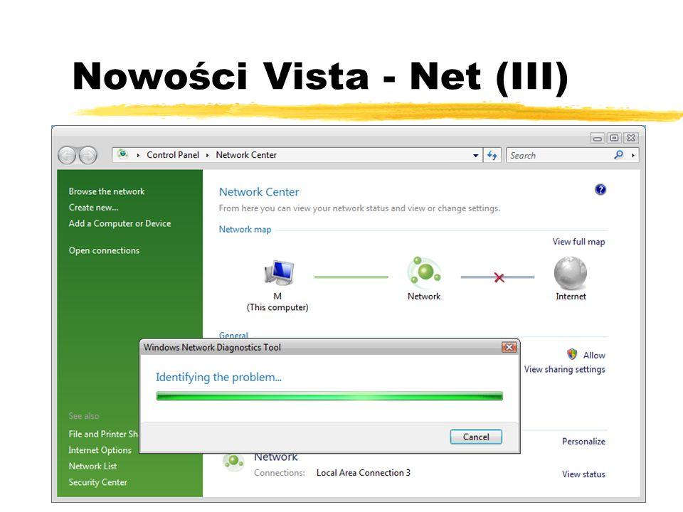 Nowości Vista - Net (III)