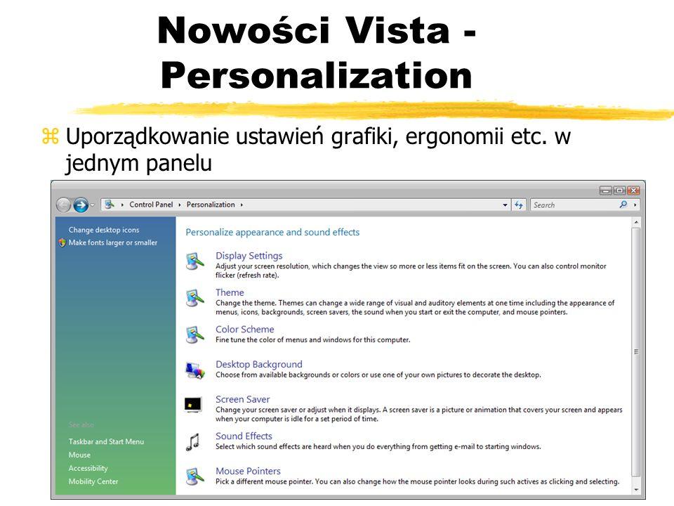 Nowości Vista - Personalization