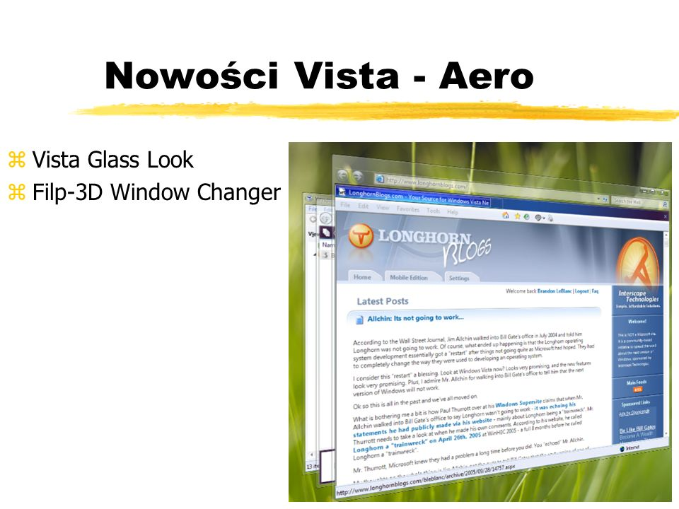Nowości Vista - Aero Vista Glass Look Filp-3D Window Changer