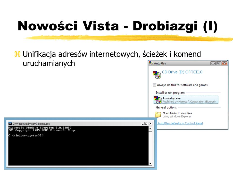 Nowości Vista - Drobiazgi (I)