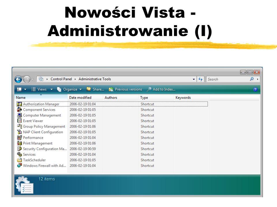 Nowości Vista - Administrowanie (I)