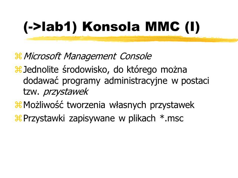 (->lab1) Konsola MMC (I)