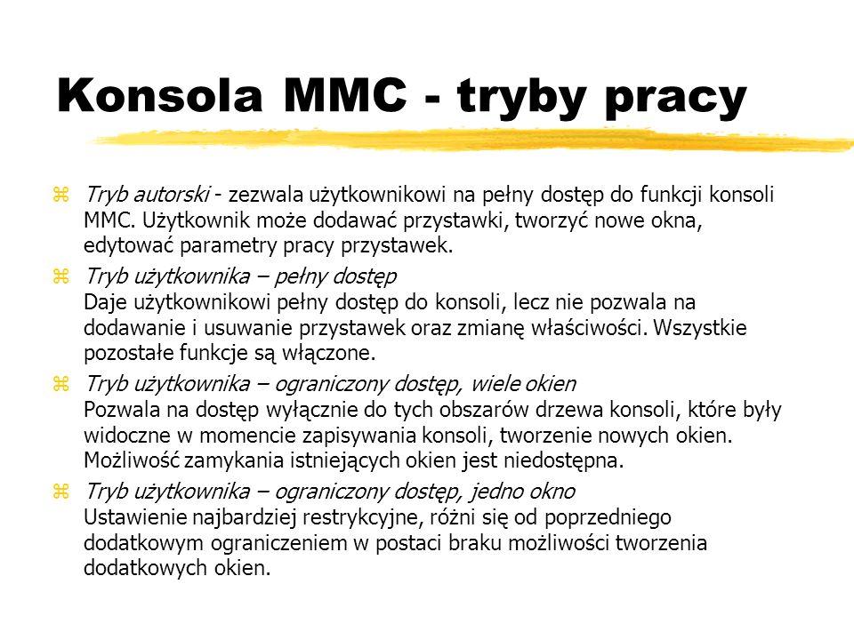 Konsola MMC - tryby pracy