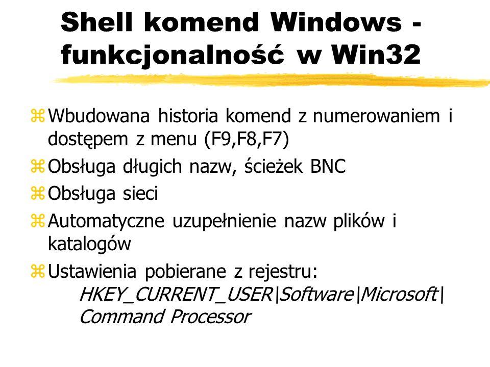 Shell komend Windows - funkcjonalność w Win32