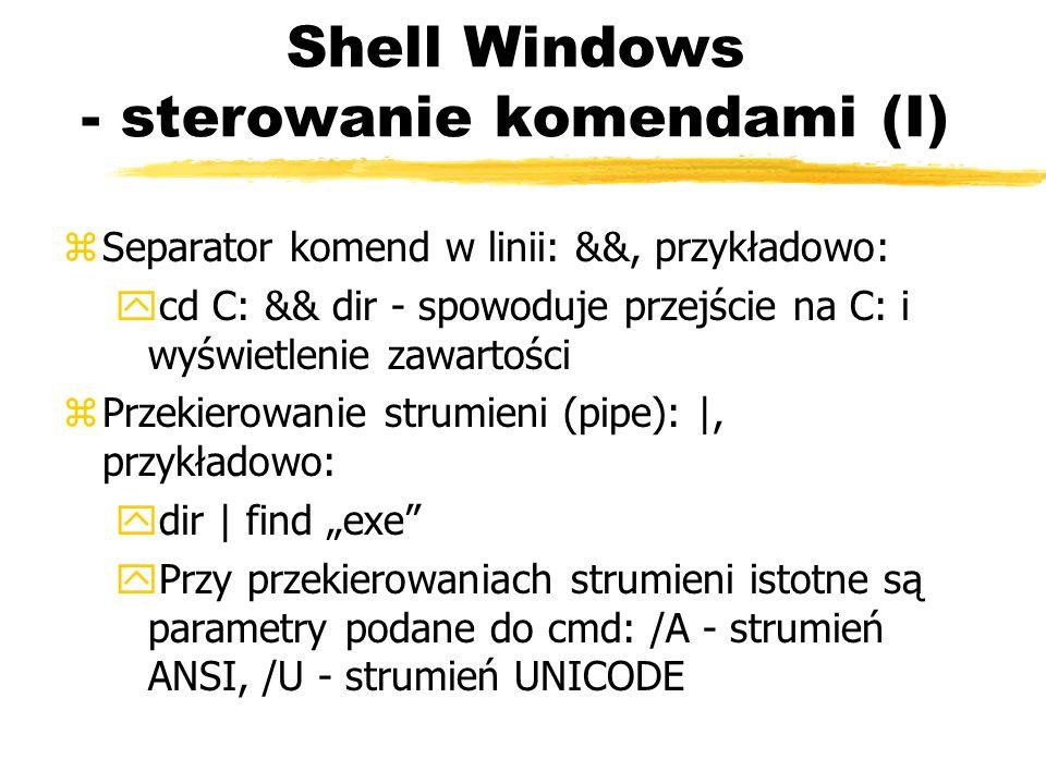 Shell Windows - sterowanie komendami (I)