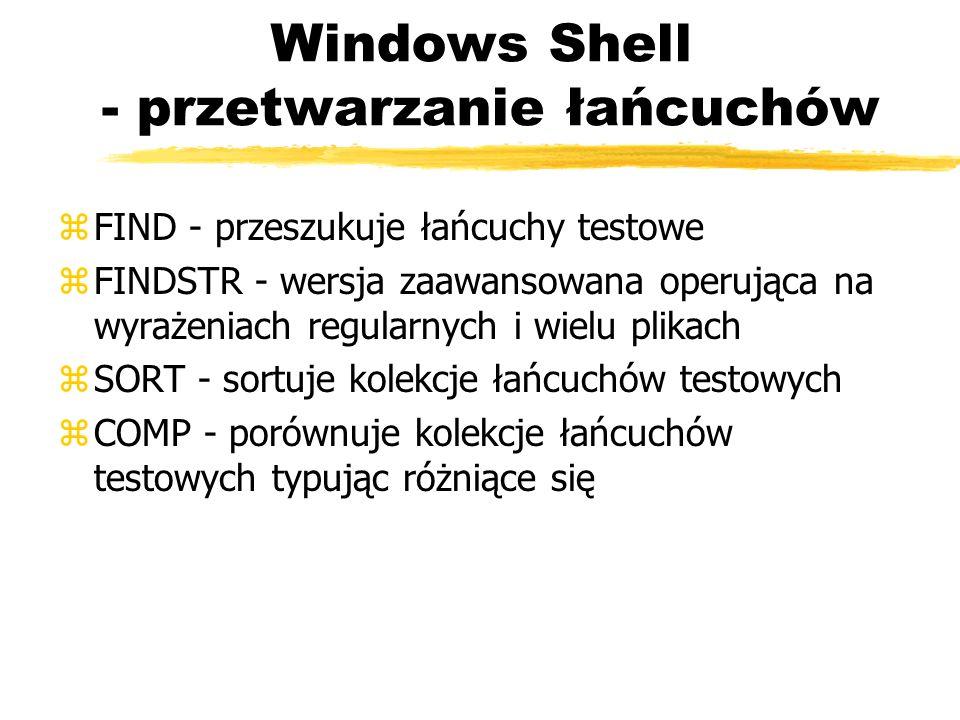 Windows Shell - przetwarzanie łańcuchów