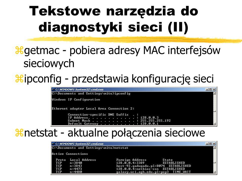 Tekstowe narzędzia do diagnostyki sieci (II)
