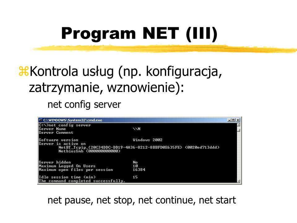 Program NET (III)