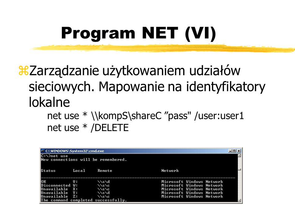 Program NET (VI)