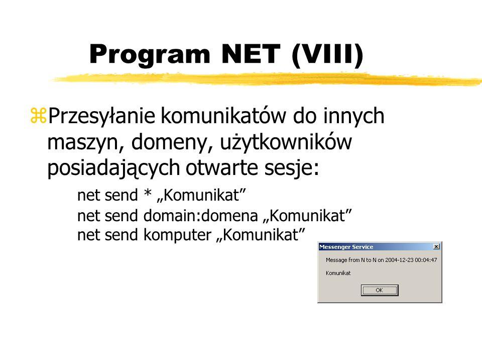 Program NET (VIII)