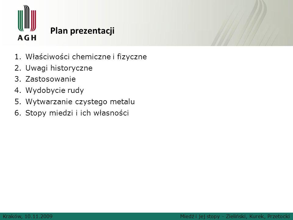 Plan prezentacji Właściwości chemiczne i fizyczne Uwagi historyczne