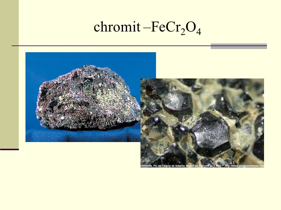 chromit –FeCr2O4
