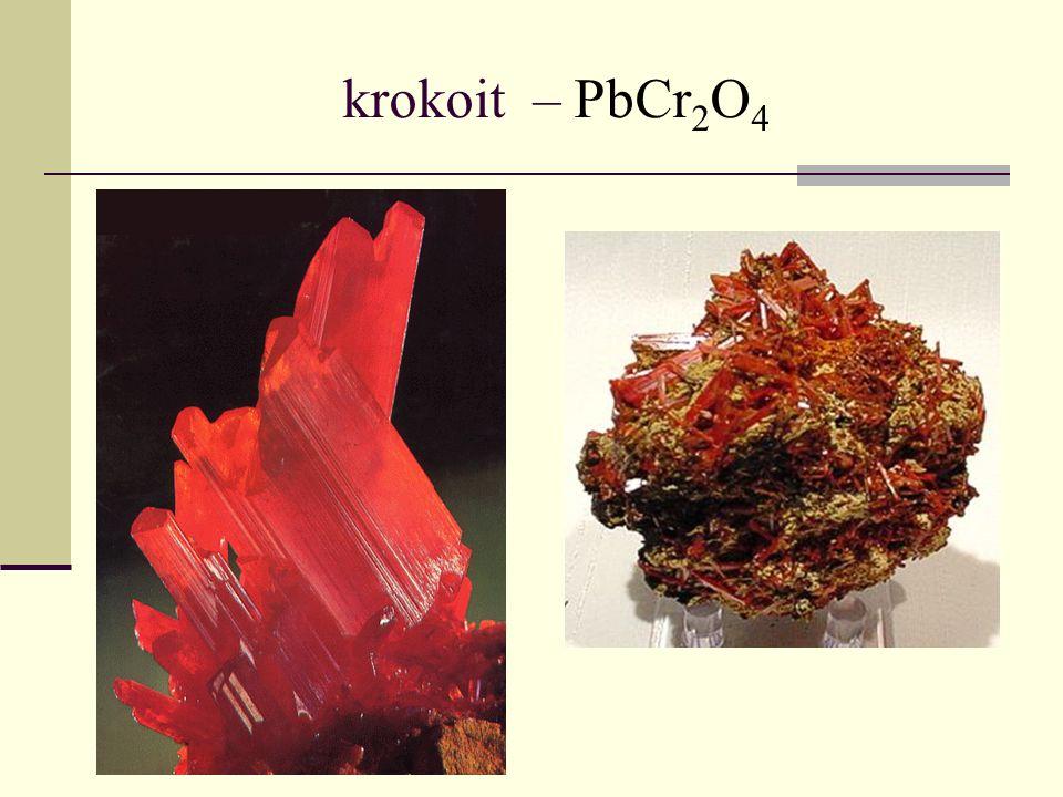 krokoit – PbCr2O4