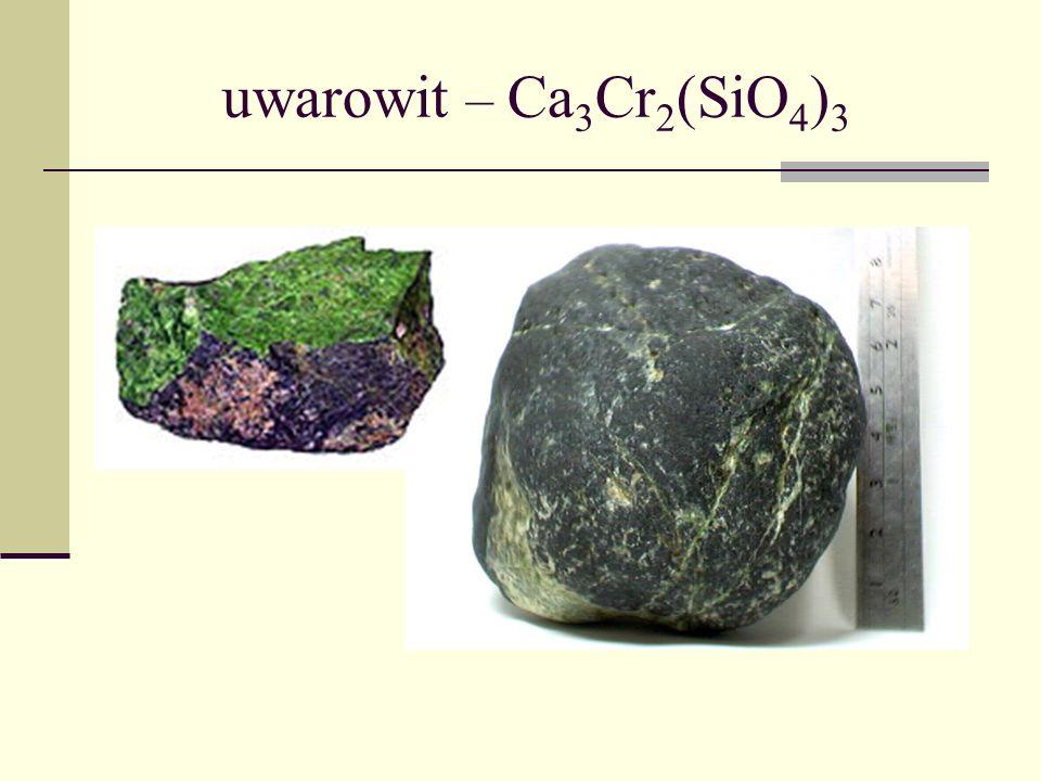 uwarowit – Ca3Cr2(SiO4)3