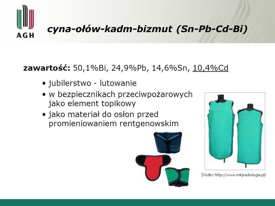 cyna-ołów-kadm-bizmut (Sn-Pb-Cd-Bi)