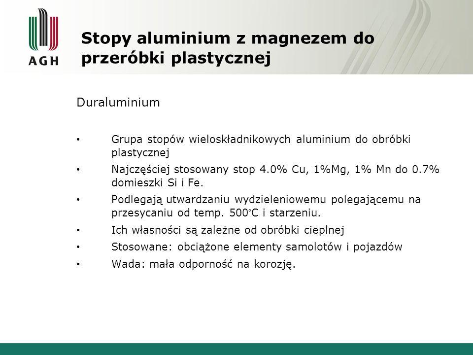 Stopy aluminium z magnezem do przeróbki plastycznej