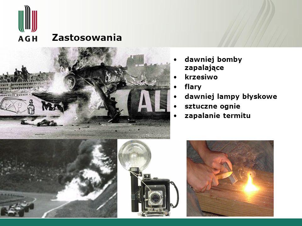 Zastosowania dawniej bomby zapalające krzesiwo flary