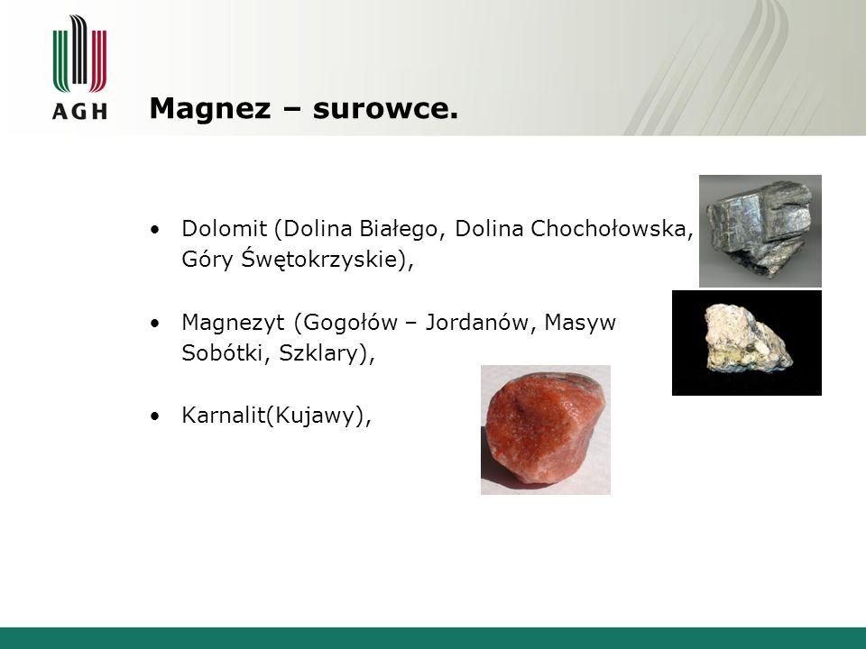 Magnez – surowce. Dolomit (Dolina Białego, Dolina Chochołowska,