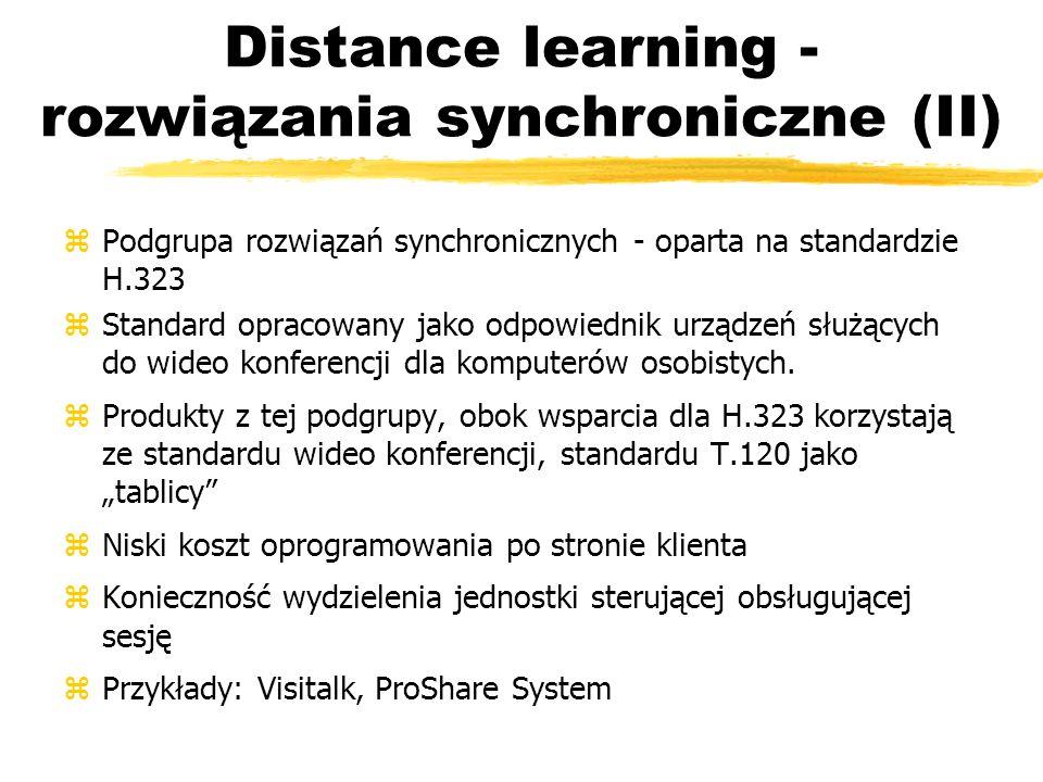 Distance learning - rozwiązania synchroniczne (II)